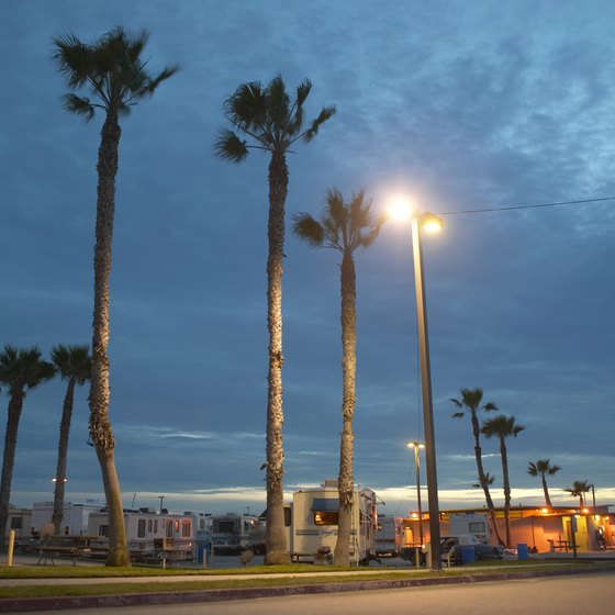 Palm trees and sunsets are perks at Southern California RV campgrounds.