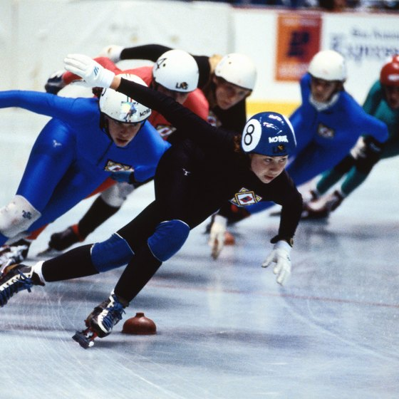 Slide boards help build muscles around the hips, which is important for sports like speed skating.