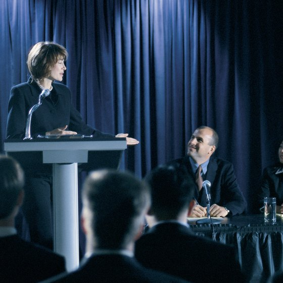 Conferences and corporate meetings are always looking for good speakers.