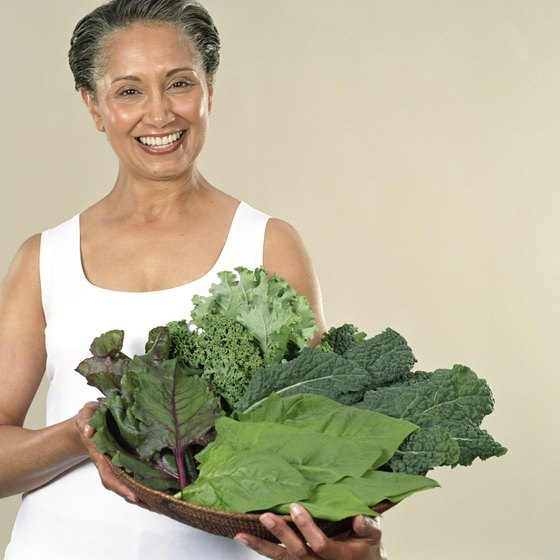 Adult women should eat at least 1 1/2 cups of green leafy vegetables weekly.