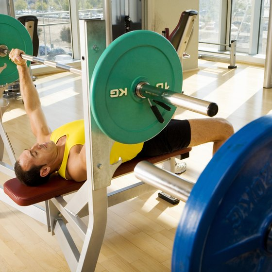 The bench press is one of the three lifts performed in a powerlifting competition.