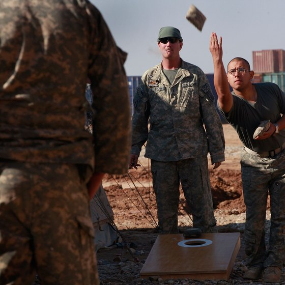 Bean Bag Toss is even played among U.S. troops in Afghanistan.