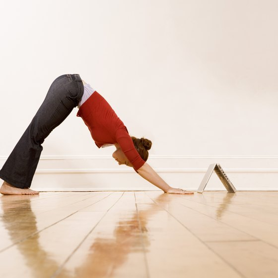 Downward-facing Dog is an effective hamstring stretch.