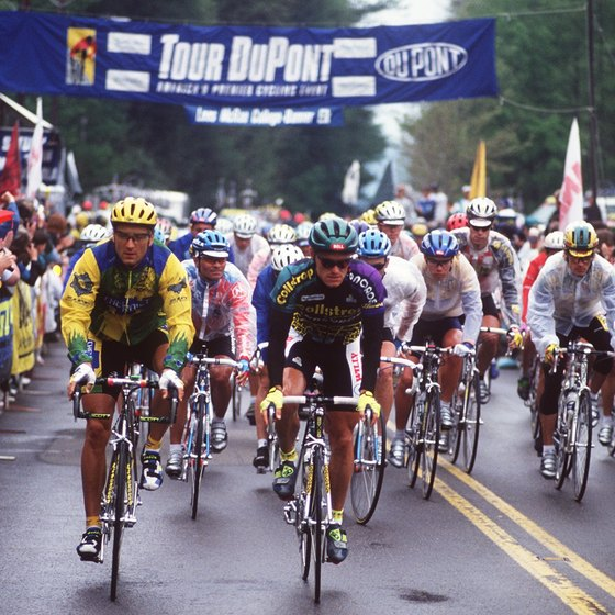 The Tour DuPont bike race runs through the mountains around Banner Elk.