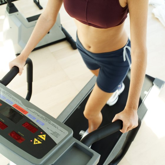 A treadmill can help burn fat in the stomach and all over the body.