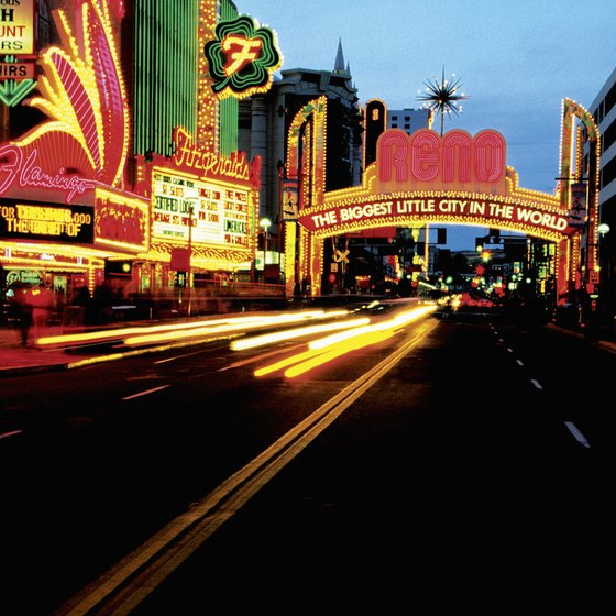 See the bright lights of Reno's strip.