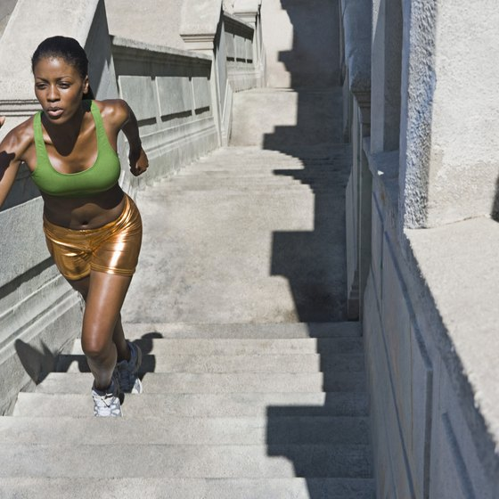Running stairs is one way to build stamina.