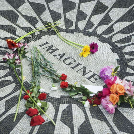 A memorial in Central Park honors John Lennon.