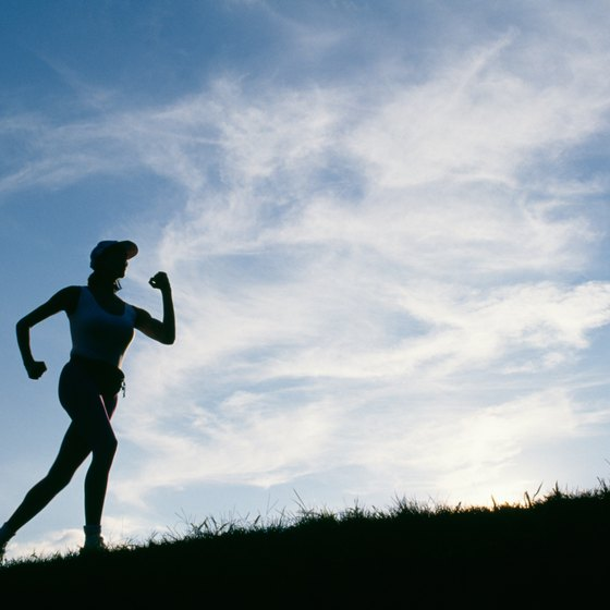 Running hills will improve leg strength and speed.