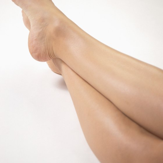 Slim your calves by stretching several times weekly.