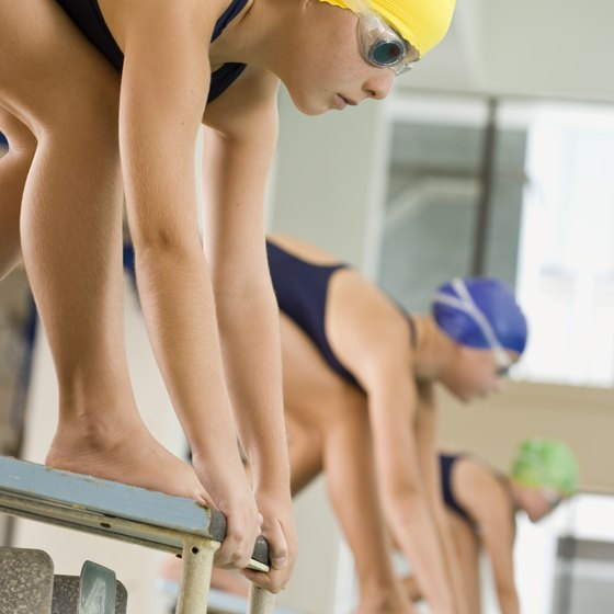 Aerobic and strength conditioning help improve swimming performance.