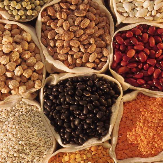 Beans are a major source of protein for vegetarians.