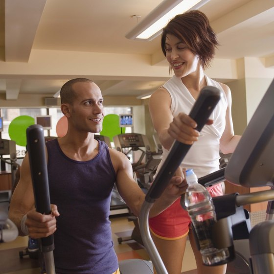 With or without moving arms, the elliptical will improve cardiovascular fitness.