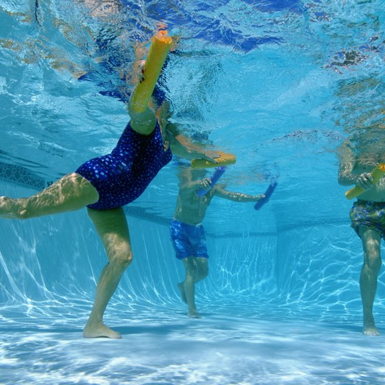 Aquatic abdominal exercises offer a change from traditional crunches.
