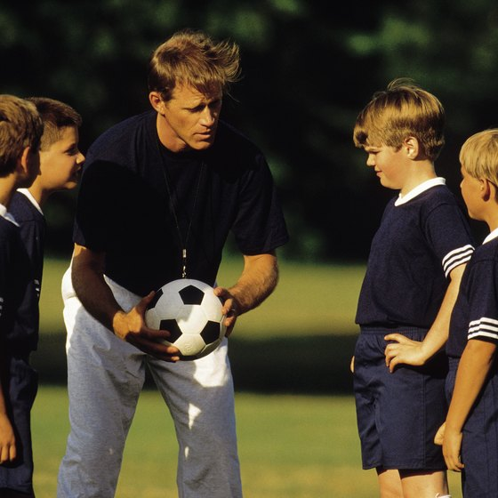 Coaching younger children requires short, entertaining drills.