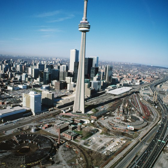 Toronto's CN Tower is one of the tallest structures in the world.