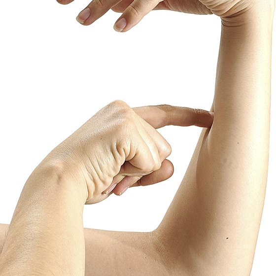 Squeezing your hand works your forearm muscles.