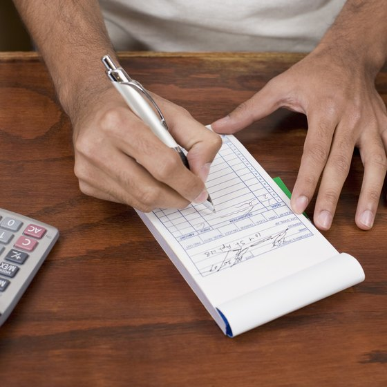 how to fill out the stub on business receipts your business