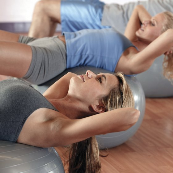 The ball crunch is a great exercise for your abdominals.