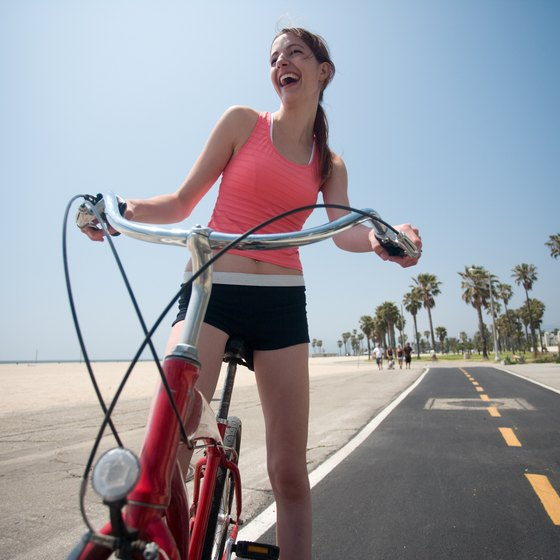 L.A.'s Venice Beach is a prime spot for biking, rollerblading, and people-watching.