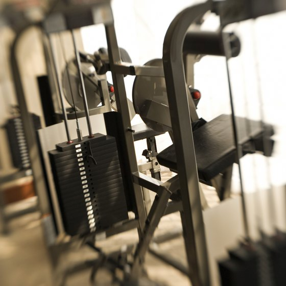 Weight machines can help tone your legs.