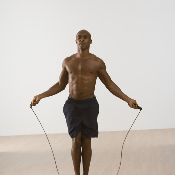 Jump rope to help burn fat from your calves.