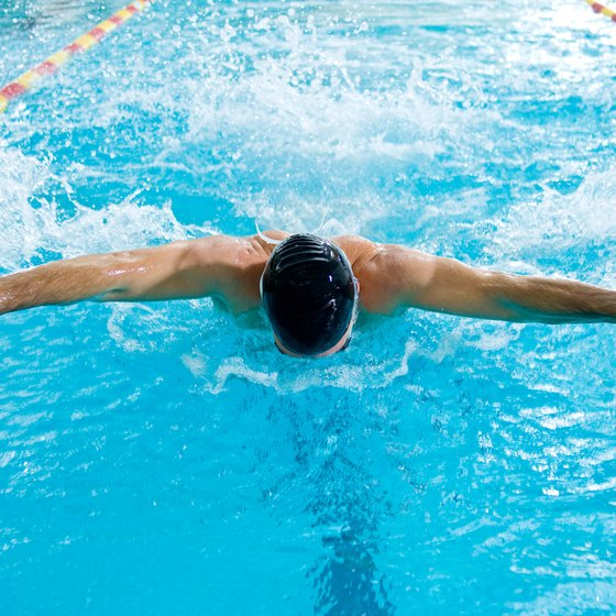 Butterfly swimming requires a high proportion of anaerobic power.
