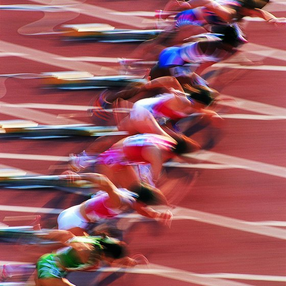 Train for an 800-meter run with regular interval workouts.