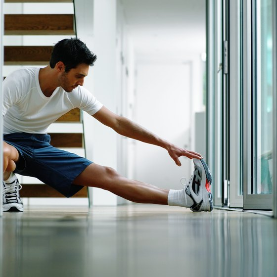 Stretching your leg muscles prevents painful injuries when squatting.