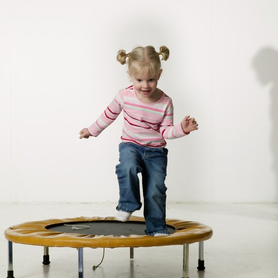 Children younger than 5 should not run on a full-sized trampoline.