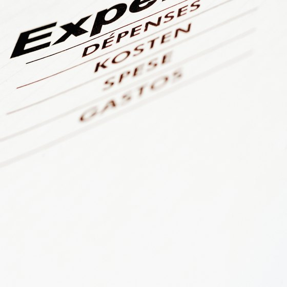 Expenses are a component of the income statement, a financial statement.
