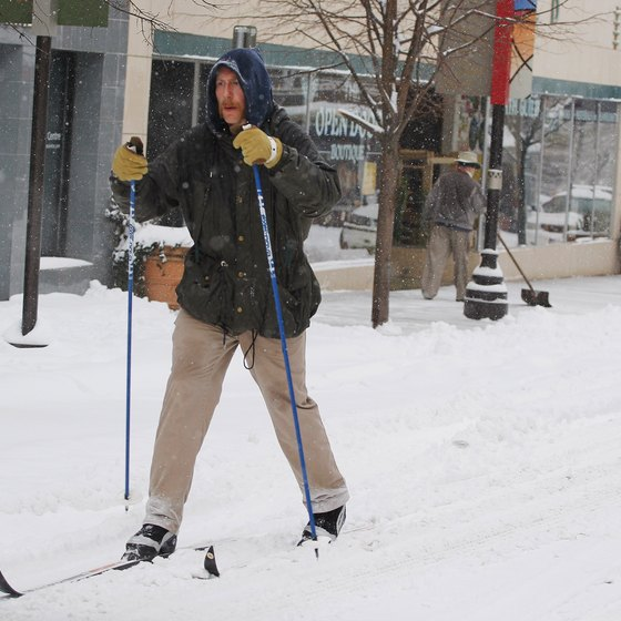 Every once in a while, there's enough snow to ski in downtown Asheville.