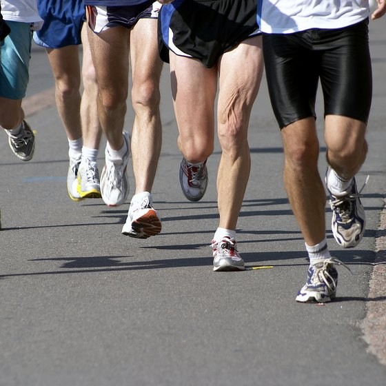 Surpassing the anaerobic threshold during a marathon may cause early fatigue in the legs.