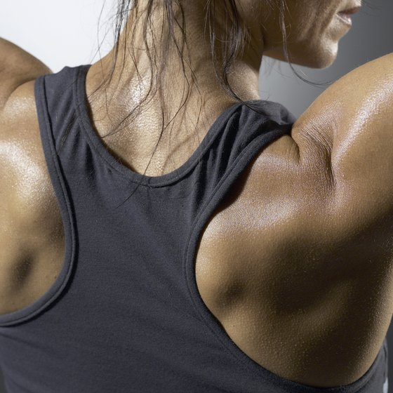 The lateral raise works the side shoulder muscle.