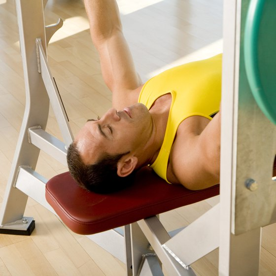 Decline bench presses isolate and work the lower pectoral muscles.