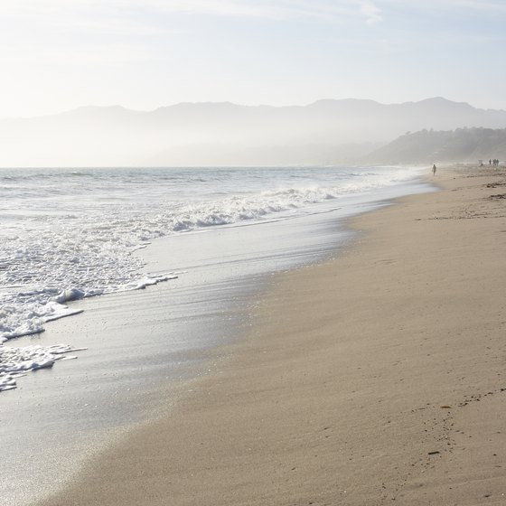 Santa Monica Beach is close to the action in Los Angeles.
