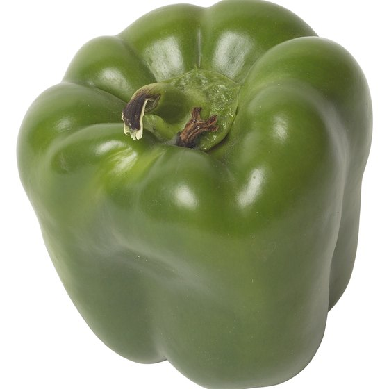 A green pepper has nearly as much vitamin C as two oranges.