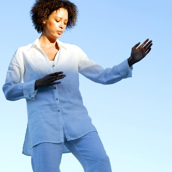 Qigong movements are thought to promote the healthy flow of qi.