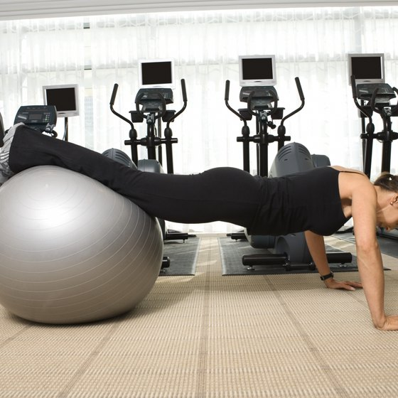 Stability ball pushups are easier than traditional pushups.