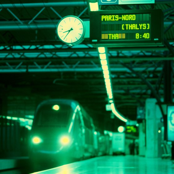 High-speed trains are widely available throughout Europe.