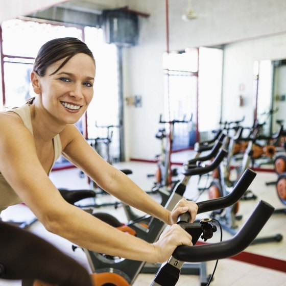 An indoor cycling class can enhance your motivation to exercise.