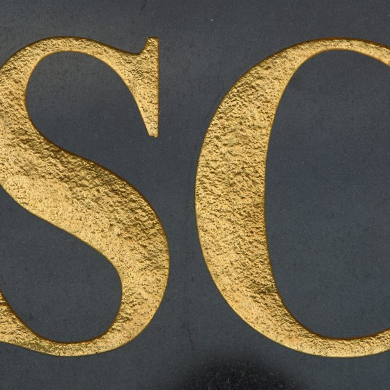 Gold lettering styles for Photoshop can be purchased or created with the application.