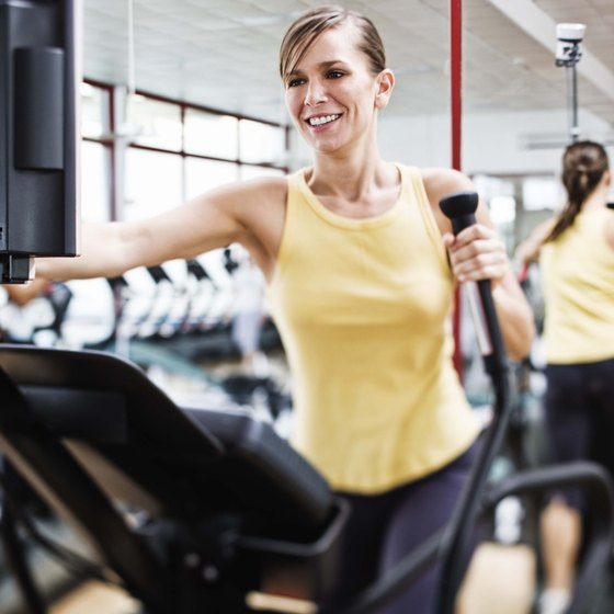 Get a full-body workout and burn calories while on an elliptical machine.