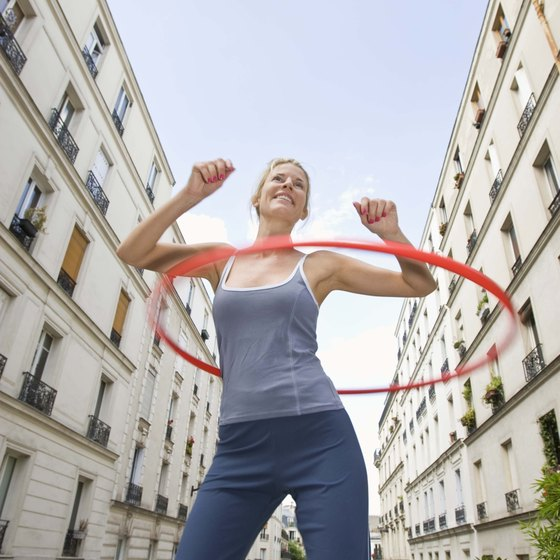 Hoop dancing helps burn calories and reduce belly fat.