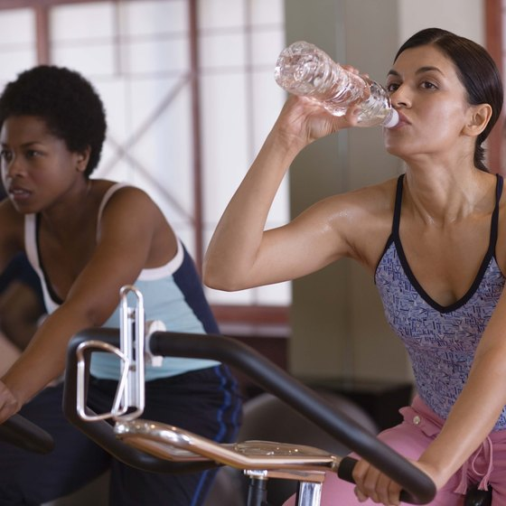 Adequate hydration is essential in a group cycling class.