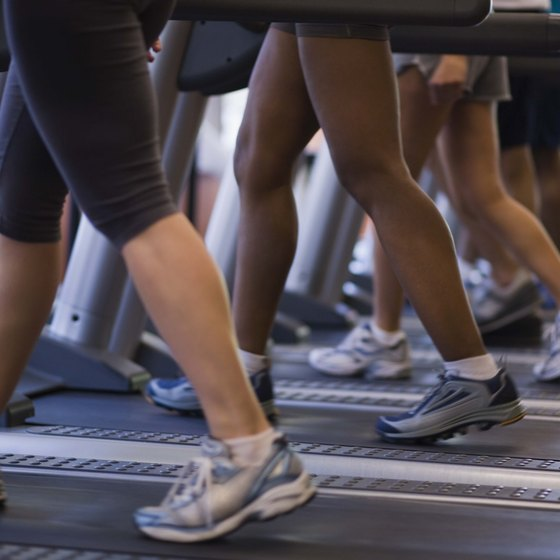 Women on treadmill