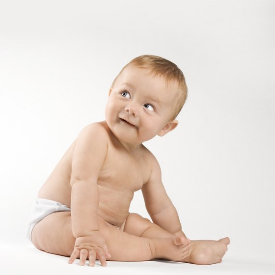 Images of happy babies wearing your diapers are the first step in explaining the benefits of your product.