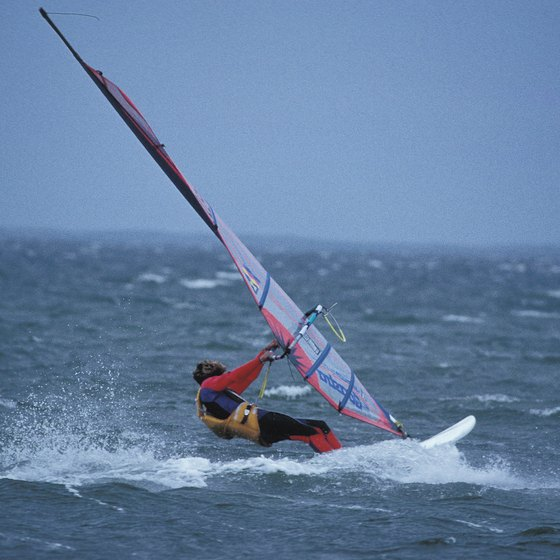 Seabrook offers a slow, relaxing pace for windsurfing vacations.