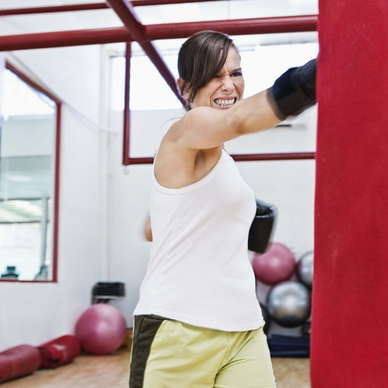 Punching bags can provide you with an intense full-body workout.