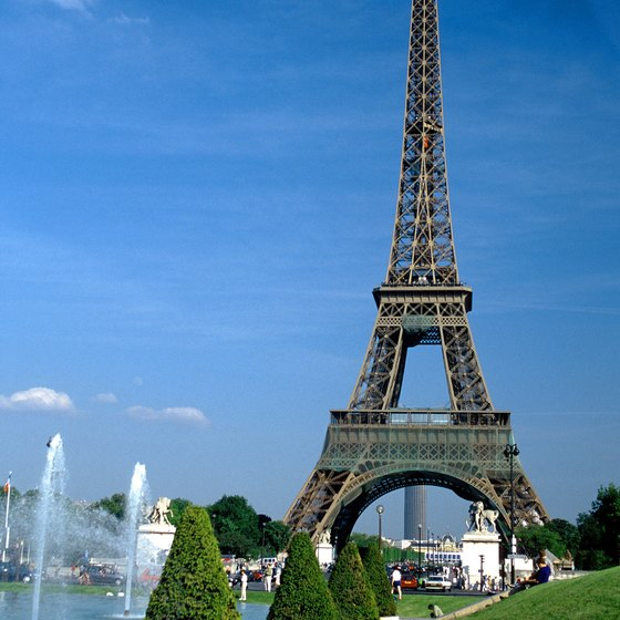 The Eiffel Tower in Paris is interesting at any time of year.